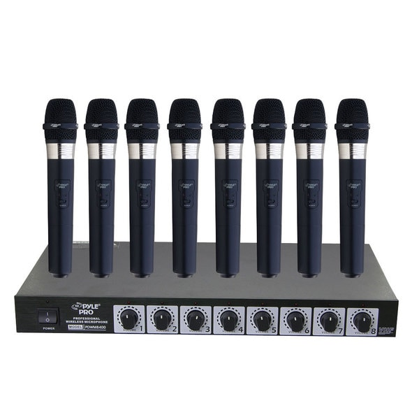 shop pyle pdwm8400 8 mic professional handheld vhf wireless microphone system free shipping. Black Bedroom Furniture Sets. Home Design Ideas