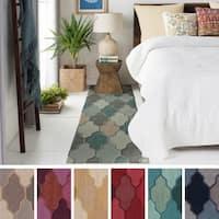 Hand-Tufted Ryde Moroccan Trellis Wool Rug (2'3 x 12') - 2'3 x 12'