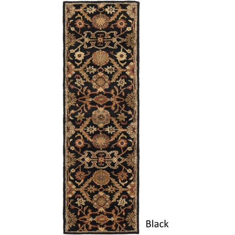 "Hand-Tufted Acton Floral Wool Rug - 2'3"" x 14' Runner"