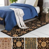 Hand-Tufted Amble Floral Wool Rug - 2'3 x 8'