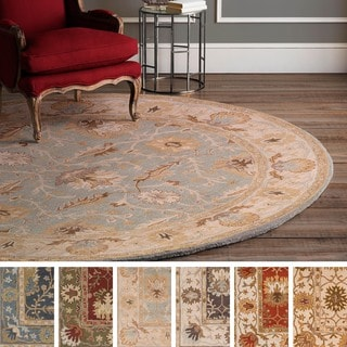 Hand-Tufted Telford Moroccan Trellis Wool Rug (3'6 Round)