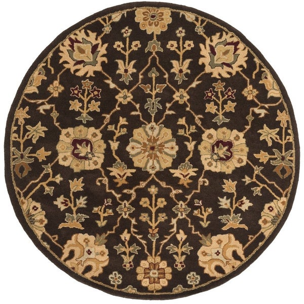 Hand-Tufted Amble Floral Wool Rug (3'6 Round)