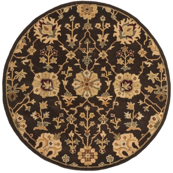 New Persian Hand Tufted Wool Oval Area Rug: Hand-Tufted Amble Floral Wool Rug (3'6 Round)