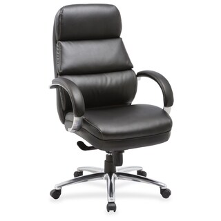 Lorell Leather High-back Chair - (1/Each)