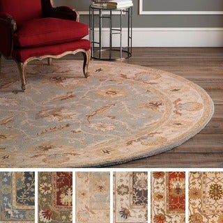 Hand-Tufted Telford Moroccan Trellis Wool Rug (8' Round) - 8'