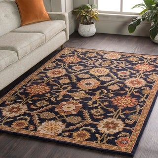 Hand-Tufted Dreux Floral Wool Rug (3'6 Round)