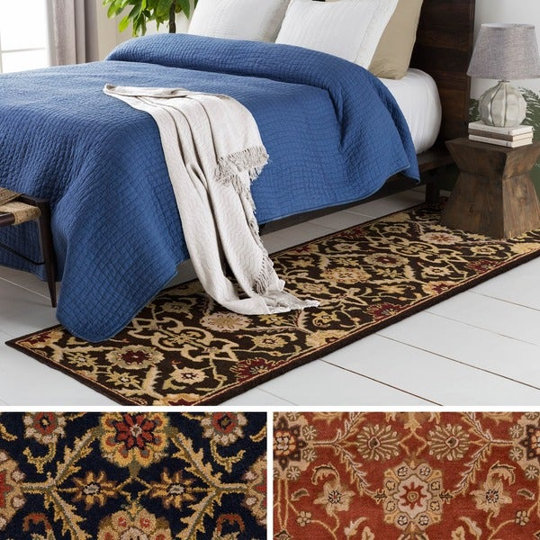 "Hand-Tufted Dreux Floral Wool Rug (2'3"" x 10')"
