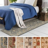 "Hand-Tufted Telford Floral Wool Rug - 2'3"" x 12'"