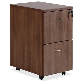 Lorell Essentials Series FF Mobile Walnut Pedestal