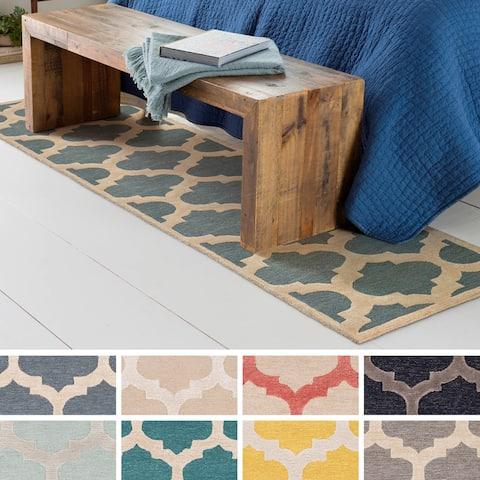 Porch & Den Henderson Hand-Tufted Trellis Wool Rug