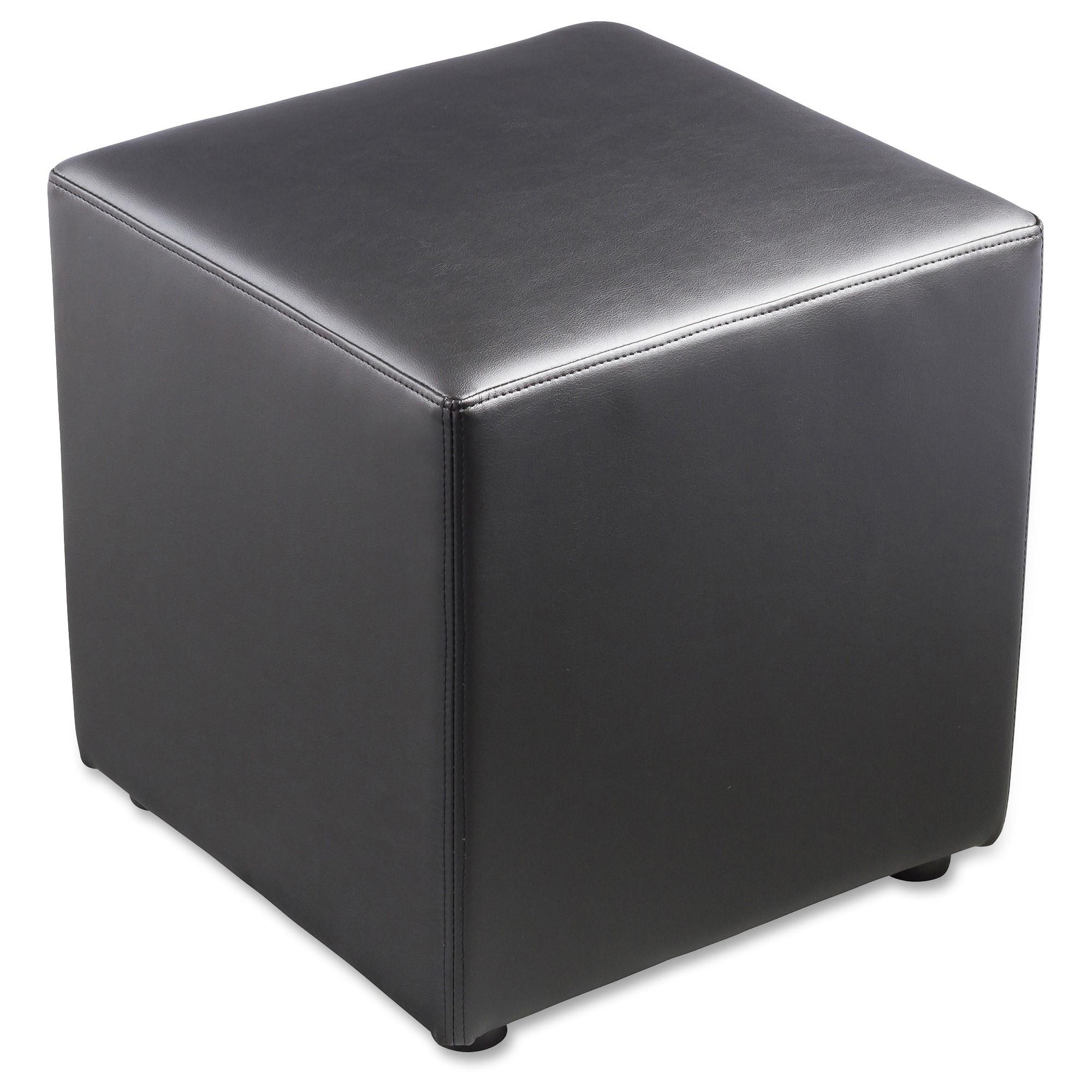 Outstanding Lorell Leather Cube Chair 1 Each Creativecarmelina Interior Chair Design Creativecarmelinacom