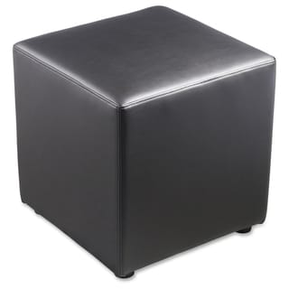 Lorell Leather Cube Chair - (1/Each)