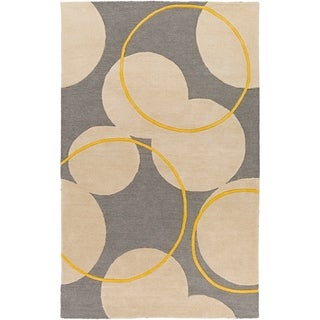 Hand-Tufted London Wool Rug (5 x 8 - Taupe)