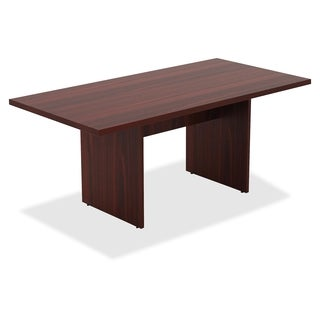 lorell chateau series mahogany 6u0027 rectangular table 1each