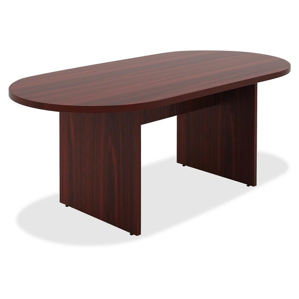Shop Lorell Chateau Series Ft Mahogany Oval Conference Table - Oval conference table for 6