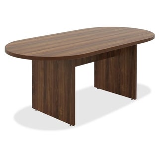Lorell Chateau Series 6 ft. Walnut Oval Conference Table