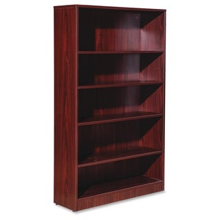 Lorell Essentials Series 5-shelf Mahogany Bookcase