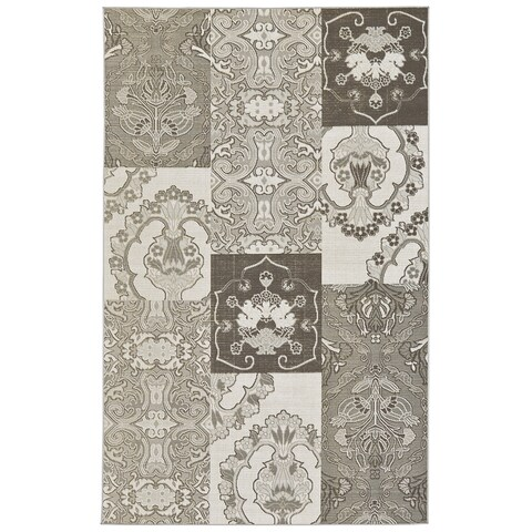 Grand Bazaar Zero Pile Seymour Rug in Seal (2'2 x 4')