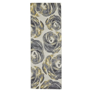 Grand Bazaar Power-Loomed Farrell Rug in Graphite, Runner - 3' x 8'