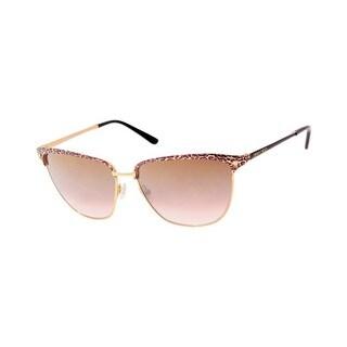 Jimmy Choo JIMMI CHOO LAURA/S Brown Mirror Lenses Leopard Print Frame Sunglasses