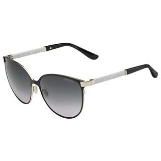 Jimmy Choo JIM POSIE/S Grey Lenses Black / Silver Frame Sunglasses