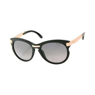 Jimmy Choo JIMMI CHOO LANA/S Polarized Grey Gradient Lenses Black / Rose-Gold Frame Folding Sunglasses