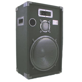 Podium Pro E1500C PA DJ Karaoke Home Pro Audio 15-inch Three Way Black Speaker