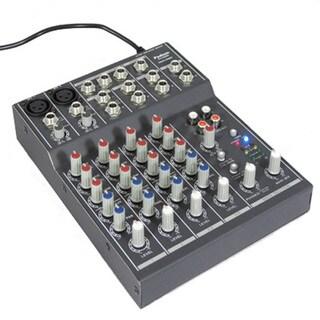 Podium Pro MX602 6 Channel Pro Audio Mic / Line Stereo Mixer Console
