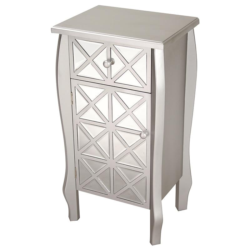 Heather Ann Single Drawer, Single Door Mirrored Cabinet, ...