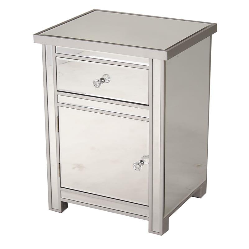 Heather Ann Single Drawer, Single Door Mirrored Cabinet (...