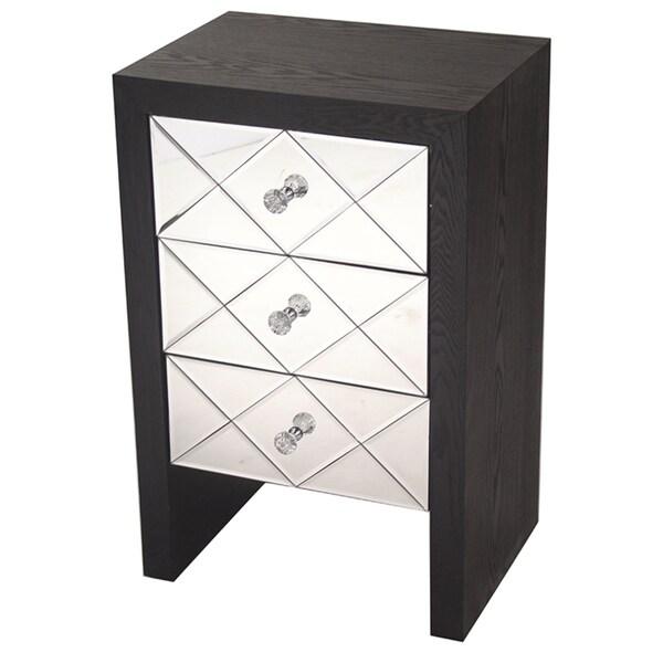 Heather Ann 3 Drawer Mirrored Cabinet