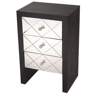 Heather Ann 3-drawer Mirrored Cabinet