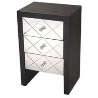 Heather Ann 3-drawer Mirrored Cabinet