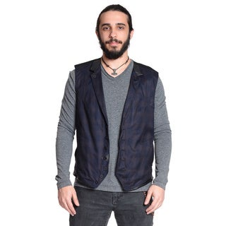 Excelled Men's Layer Classic Plaid Vest