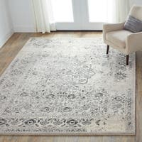Brently Ivory/ Charcoal Rug (7'7 x 10'6)