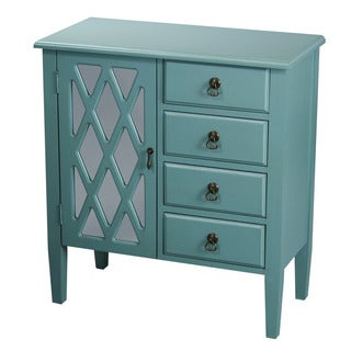 Heather Ann 4-drawer, Single Mirrored Door Wood Cabinet