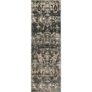 Kingsley Ikat Ivory/ Multi Runner Rug (2'6 x 7'7)