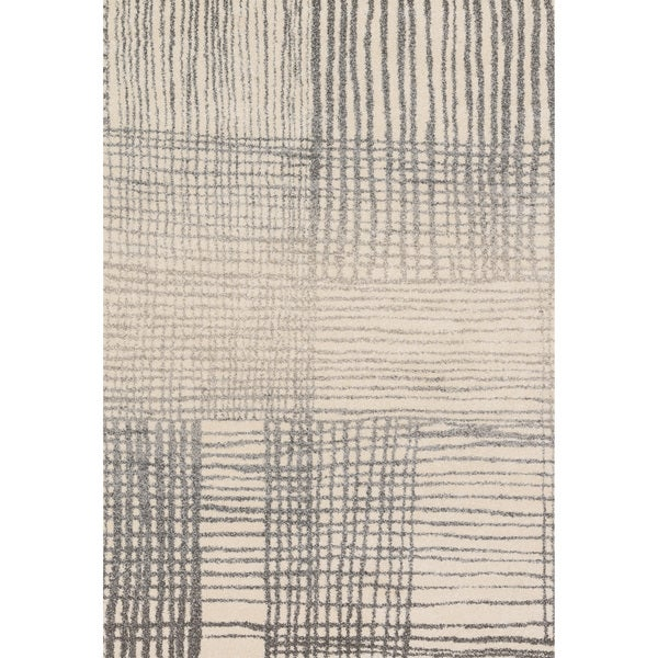 "Brently Ivory/ Grey Abstract Rug (7'7 x 10'6) - 7'7"" x 10'6"""