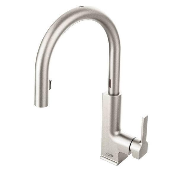 Shop Moen Sto One Handle High Arc Pull Down Motionsense Kitchen