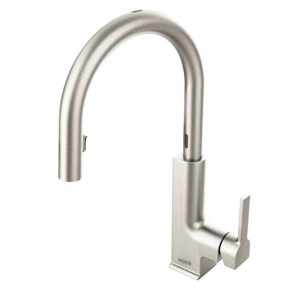 Moen Sto One Handle High Arc Pull Down Motionsense Kitchen Faucet Spot Resist Stainless Finish