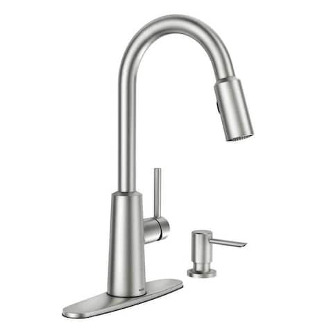 Moen Nori Single Hole Kitchen Faucet 87066SRS Spot Resist Stainless Finish