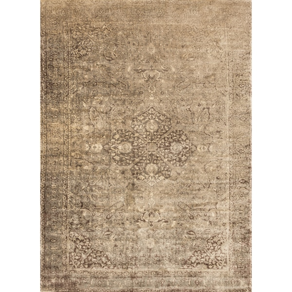 Francis Sand/ Dark Brown Rug (12'0 x 15'0)