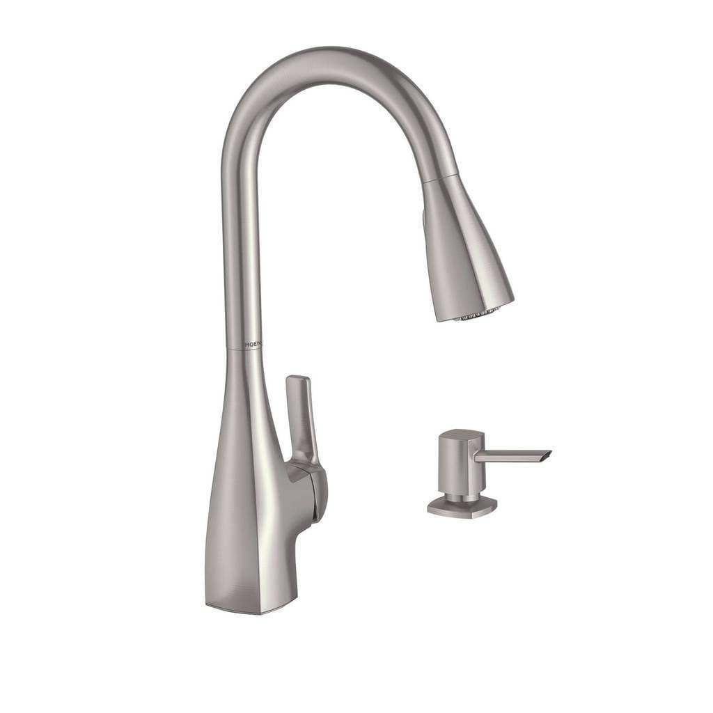 Moen Kiran Single Hole Kitchen Faucet 87599SRS Spot Resist Stainless Finish
