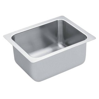 Moen Commercial Drop-in Steel Kitchen Sink 22124 Satin Finish