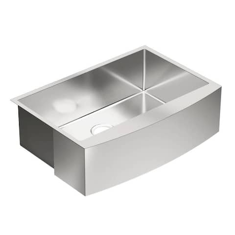 Moen 1800 Series 30-In X 21-In 18 Gauge Apron Front Sink - 30 x 21