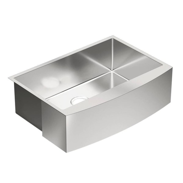 moen stainless steel kitchen sinks shop moen 1800 series drop in farmhouse stainless steel 9286