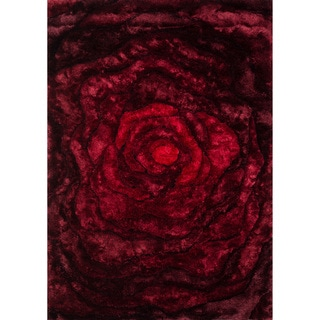 Hand-woven Perseus Red Rug (7'10 x 11'0)