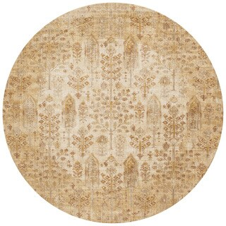 Contessa Antique Ivory/ Gold Rug (5'3 x 5'3 Round)