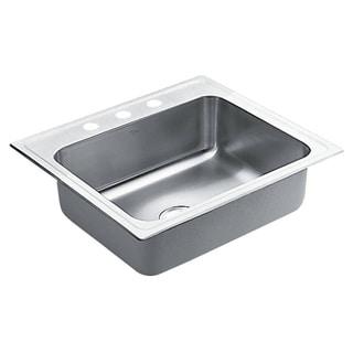 Moen Commercial Drop-in Steel Kitchen Sink 22125 Satin Finish