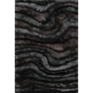 Hand-woven Perseus Midnight Rug (5'0 x 7'6)